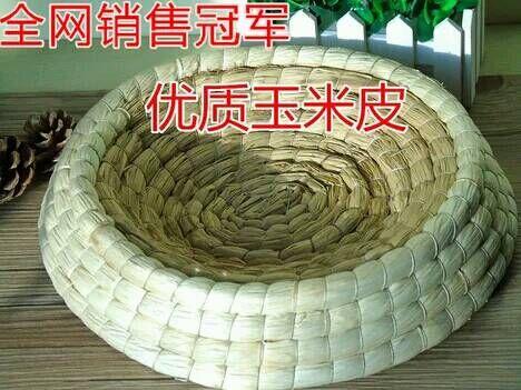 玉米皮编制草窝图片